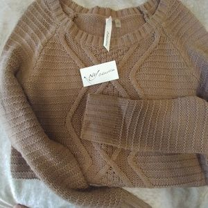 NWT taupe sweater